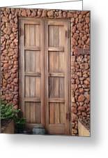 Doorway Steps Back In Time Greeting Card