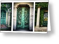 Doorways Of Woodlawn Greeting Card