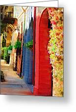 Doorways On Queen Street Greeting Card