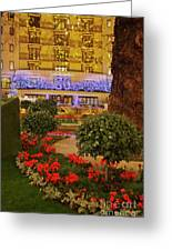 Dorchester Hotel London At Christmas Greeting Card
