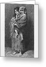 Dore: Homeless, C1869 Greeting Card