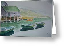 Dories In Waiting Greeting Card