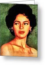 Dorothy Dandridge, Vintage Hollywood Legend Greeting Card