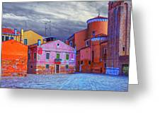 Dorsoduro Colors Under The Clouds 2 Greeting Card