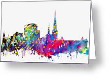 Dortmund Skyline-colorful Greeting Card