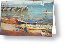 Dory Beach Greeting Card