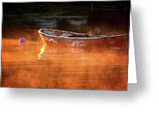 Dory In Orange Mist Greeting Card