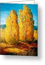 Dos Arboles De Taos Greeting Card
