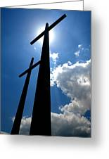 Dos Cruces Greeting Card