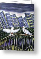Dos Doves Greeting Card