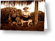 Dos Hombres Greeting Card