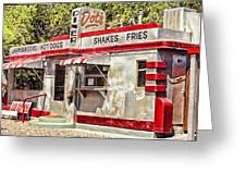 Dots Diner Bisbee Az Greeting Card