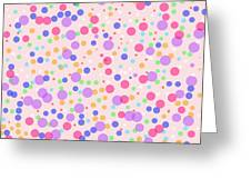 Dots On Pink Background Greeting Card