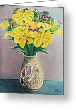 Dotted Vase Greeting Card