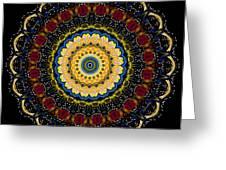 Dotted Wishes No. 6 Mandala Greeting Card