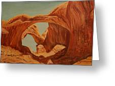 Doubl Arch Greeting Card by Rosencruz  Sumera