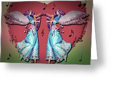 Double Angel Greeting Card