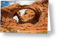 Double Arch - Arches National Park Utah Greeting Card