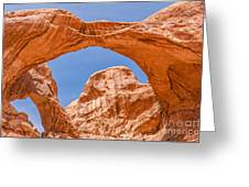 Double Arch At Arches National Park Greeting Card