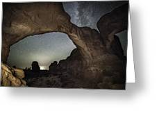 Double Arch Beneath The Stars Greeting Card
