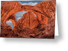 Double Arches At Arches National Park Greeting Card