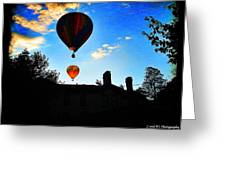 Double Balloons  Greeting Card