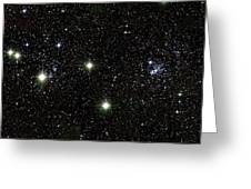 Double Cluster, Ngc 869 And Ngc 884 Greeting Card