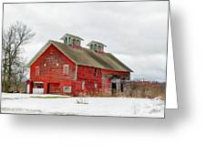 Double Cupola Barn Greeting Card