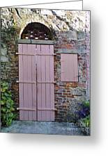 Double Doors And A Window Greeting Card
