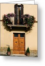 Double Doors And Balcony Greeting Card