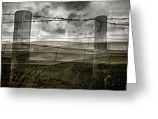 Double Exposure Landscape Greeting Card