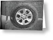 Double Exposure Manhole Cover Tire Holga Photography Greeting Card