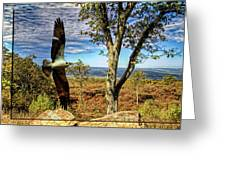 Double Exposure Osprey And High Point Nj Greeting Card