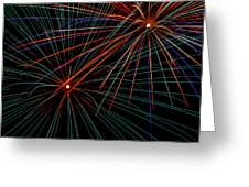 Double Fireworks Greeting Card