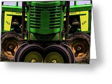 Double Green Machines Greeting Card