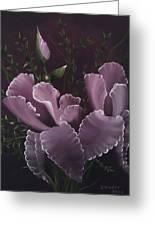 Double Iris Greeting Card