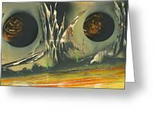Double Moon Desert Greeting Card