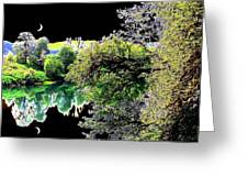 Double Moon Greeting Card
