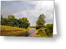 Double Rainbow At Devils Tower Greeting Card