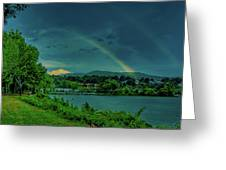 Double Rainbow Greeting Card by David Hahn