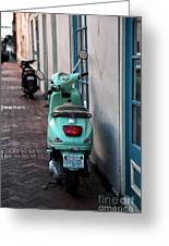 Double Scooters Greeting Card