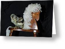 Double Seat Rocking Horse Greeting Card