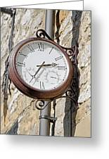 Double Sided Station Clock - Bakewell Greeting Card