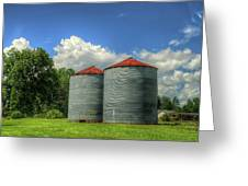 Double Silos Greeting Card