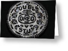 Double Stuff Oreo Greeting Card