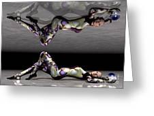 Double Vision Greeting Card by Sandra Bauser Digital Art