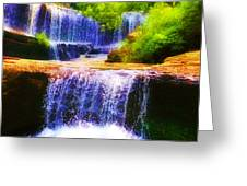 Double Waterfall Greeting Card by Bill Cannon