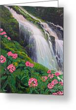 Double Hawaii Waterfall Greeting Card