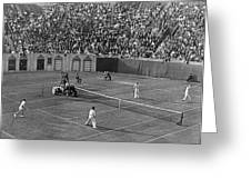 Doubles Tennis At Forest Hills Greeting Card