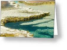 Doublet Pool In Yellowstone Greeting Card